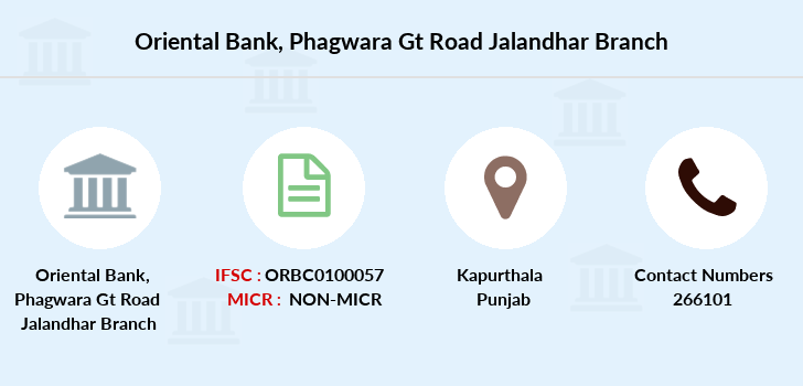 Oriental-bank-of-commerce Phagwara-gt-road-jalandhar branch