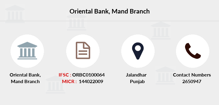 Oriental-bank-of-commerce Mand branch