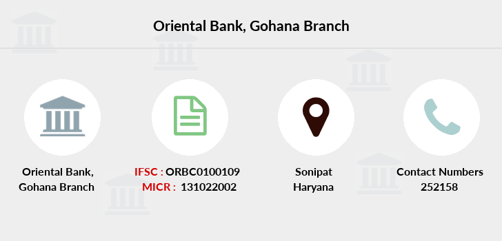 Oriental-bank-of-commerce Gohana branch