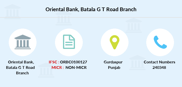 Oriental-bank-of-commerce Batala-g-t-road branch