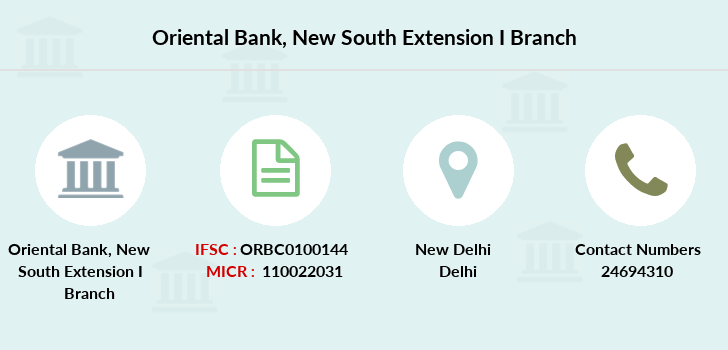 Oriental-bank-of-commerce New-south-extension-i branch