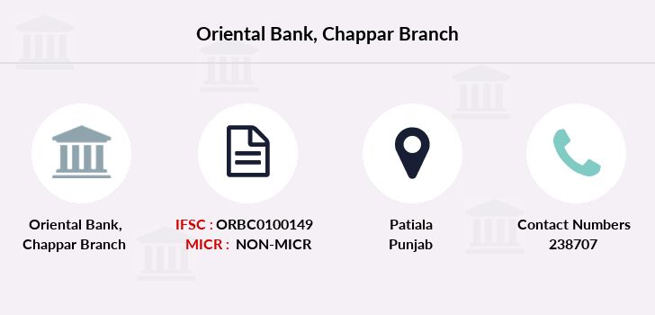 Oriental-bank-of-commerce Chappar branch