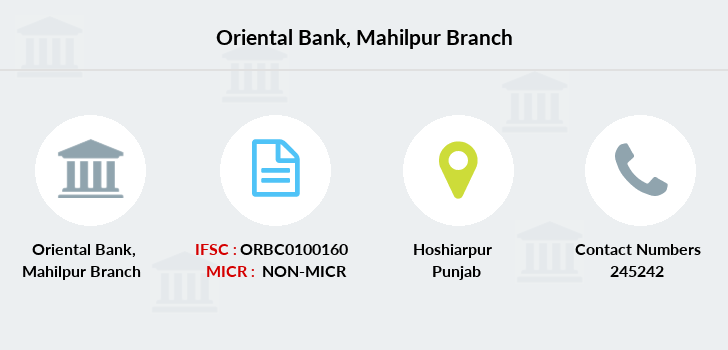 Oriental-bank-of-commerce Mahilpur branch