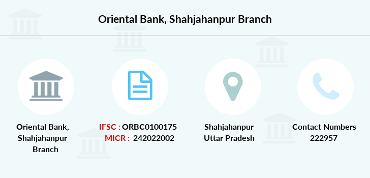Oriental-bank-of-commerce Shahjahanpur branch