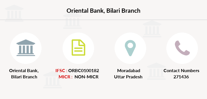 Oriental-bank-of-commerce Bilari branch