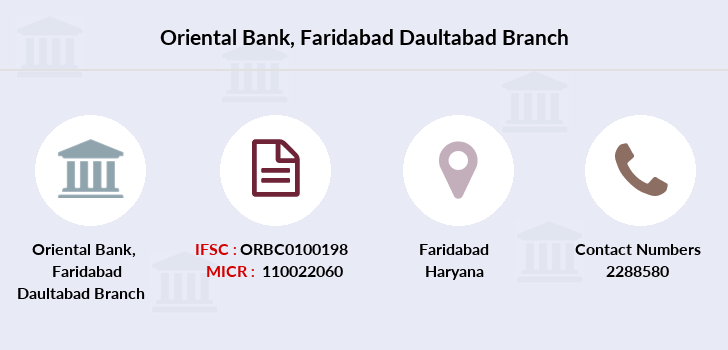 Oriental-bank-of-commerce Faridabad-daultabad branch