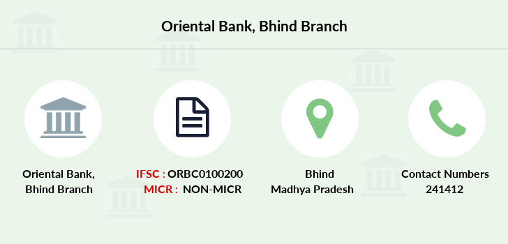 Oriental-bank-of-commerce Bhind branch