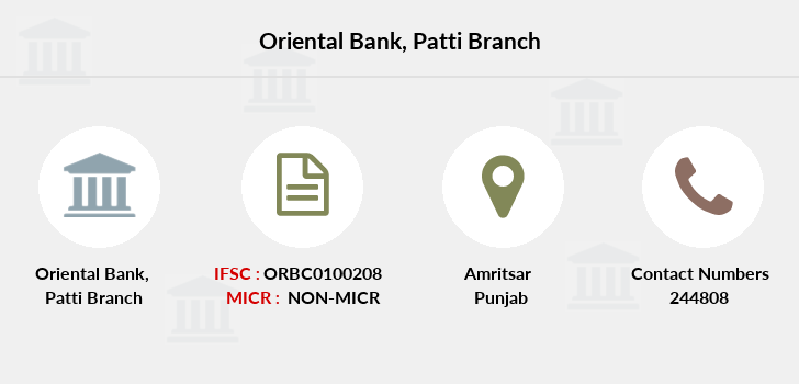 Oriental-bank-of-commerce Patti branch