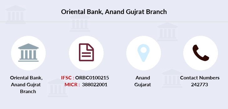 Oriental-bank-of-commerce Anand-gujrat branch