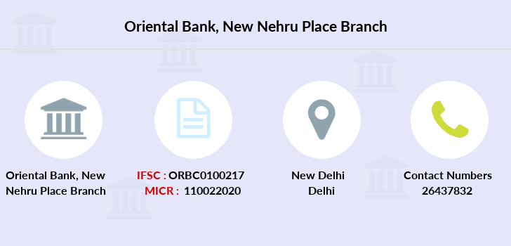 Oriental-bank-of-commerce New-nehru-place branch