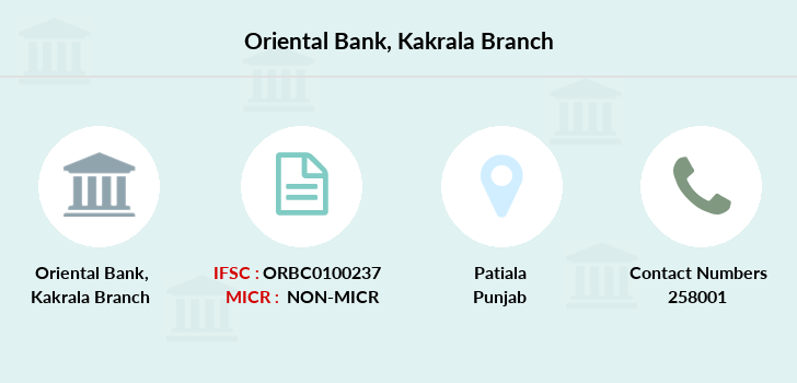 Oriental-bank-of-commerce Kakrala branch