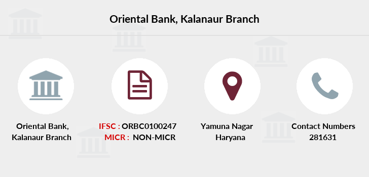 Oriental-bank-of-commerce Kalanaur branch