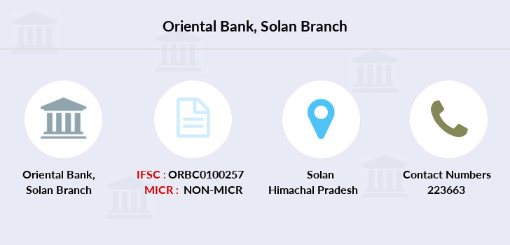 Oriental-bank-of-commerce Solan branch