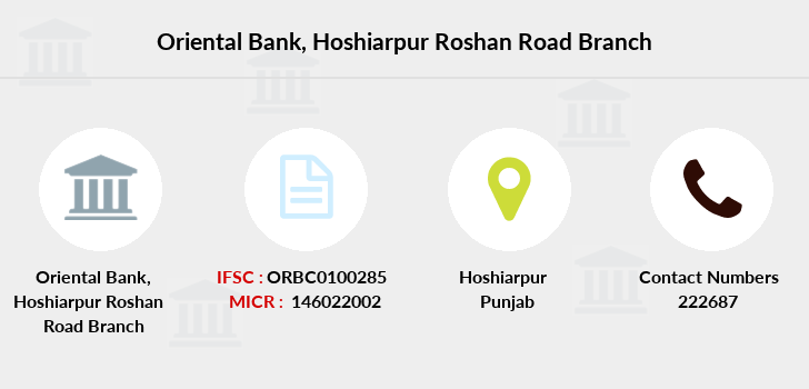 Oriental-bank-of-commerce Hoshiarpur-roshan-road branch