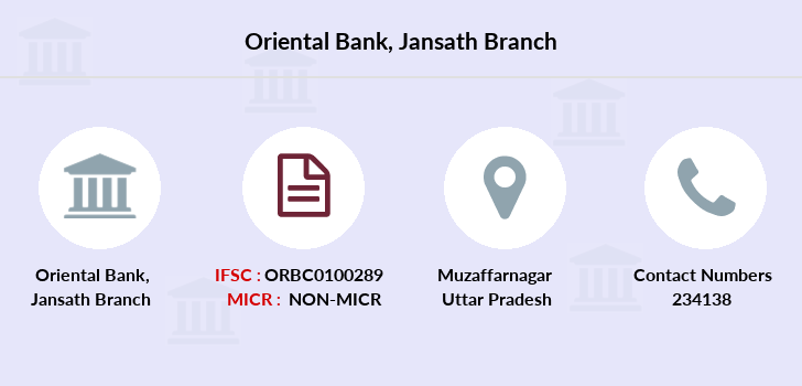 Oriental-bank-of-commerce Jansath branch