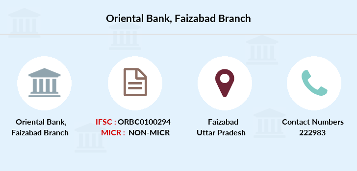 Oriental-bank-of-commerce Faizabad branch