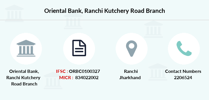 Oriental-bank-of-commerce Ranchi-kutchery-road branch