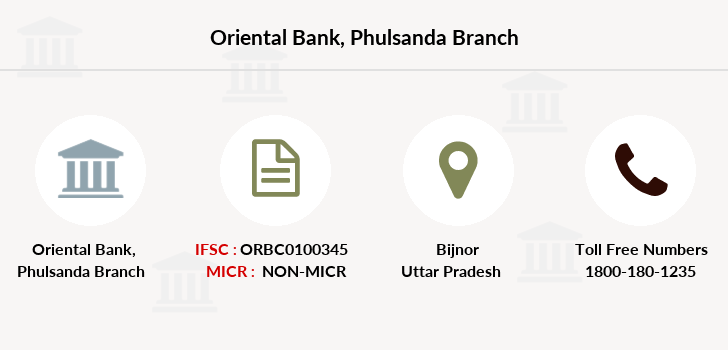 Oriental-bank-of-commerce Phulsanda branch