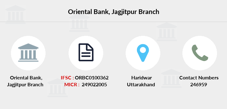 Oriental-bank-of-commerce Jagjitpur branch