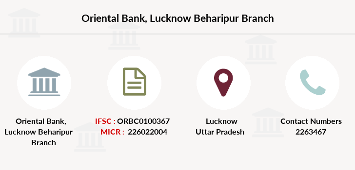 Oriental-bank-of-commerce Lucknow-beharipur branch