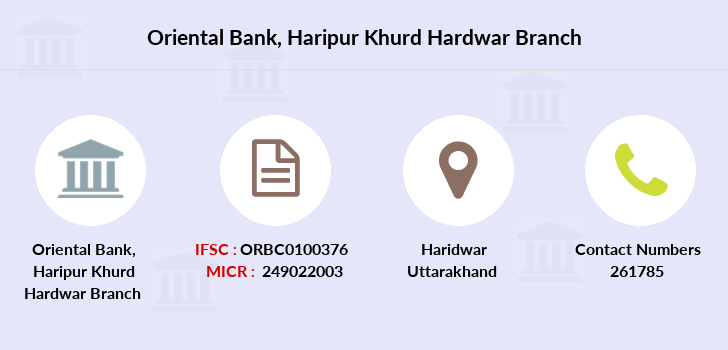Oriental-bank-of-commerce Haripur-khurd-hardwar branch
