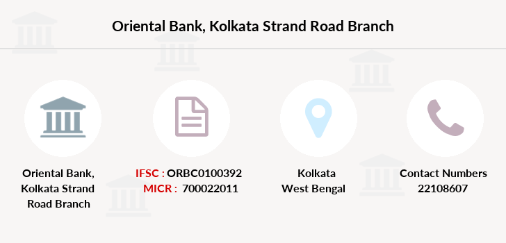 Oriental-bank-of-commerce Kolkata-strand-road branch