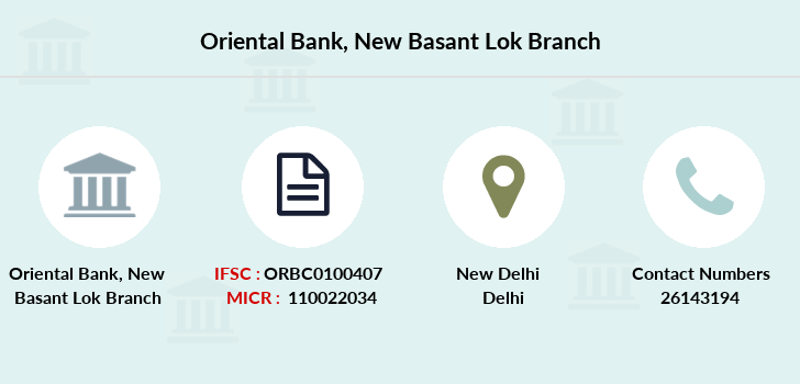 Oriental-bank-of-commerce New-basant-lok branch