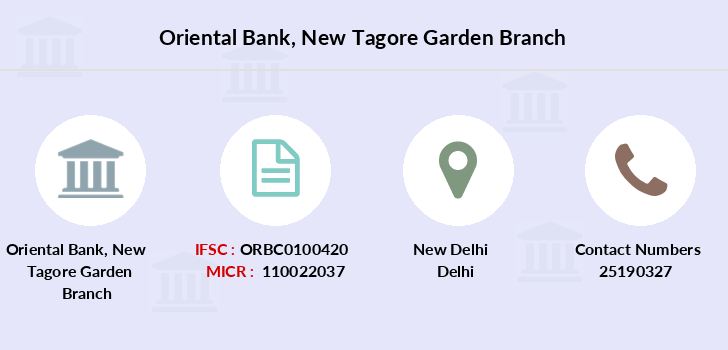 Oriental-bank-of-commerce New-tagore-garden branch
