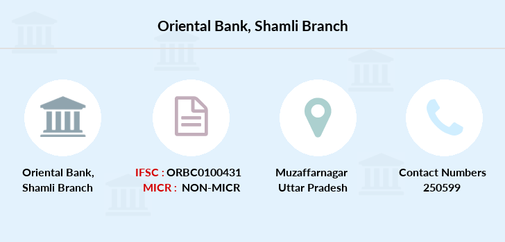 Oriental-bank-of-commerce Shamli branch