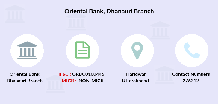 Oriental-bank-of-commerce Dhanauri branch
