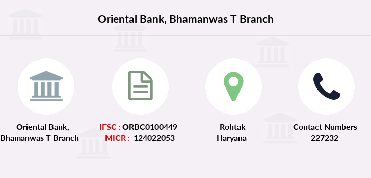 Oriental-bank-of-commerce Bhamanwas-t branch