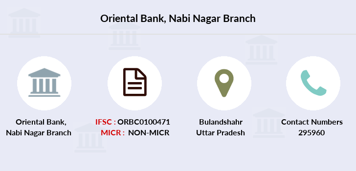 Oriental-bank-of-commerce Nabi-nagar branch
