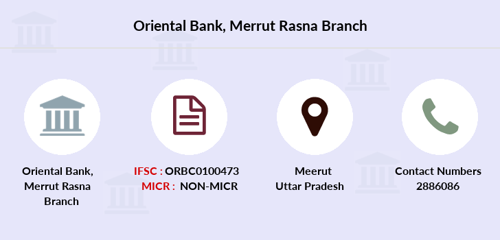 Oriental-bank-of-commerce Merrut-rasna branch