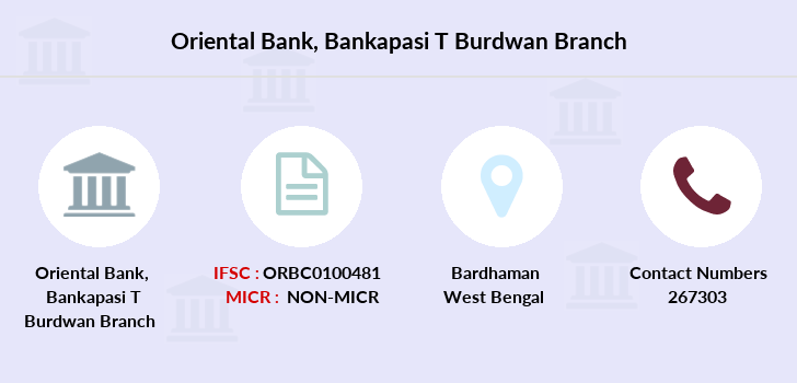 Oriental-bank-of-commerce Bankapasi-burdwan branch