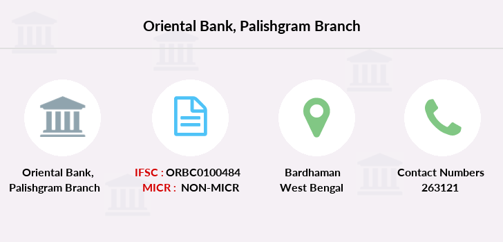 Oriental-bank-of-commerce Palishgram branch