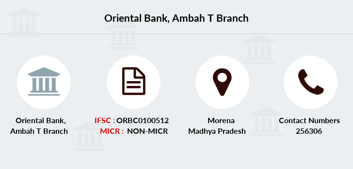Oriental-bank-of-commerce Ambah-district-morena branch