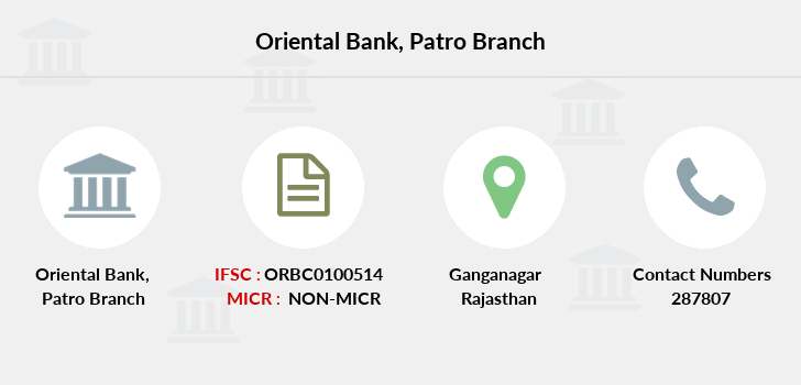 Oriental-bank-of-commerce Patro branch