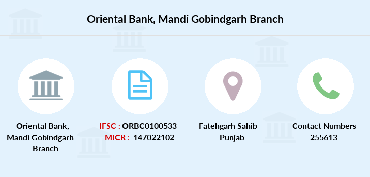 Oriental-bank-of-commerce Mandi-gobindgarh branch