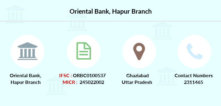 Oriental-bank-of-commerce Hapur branch