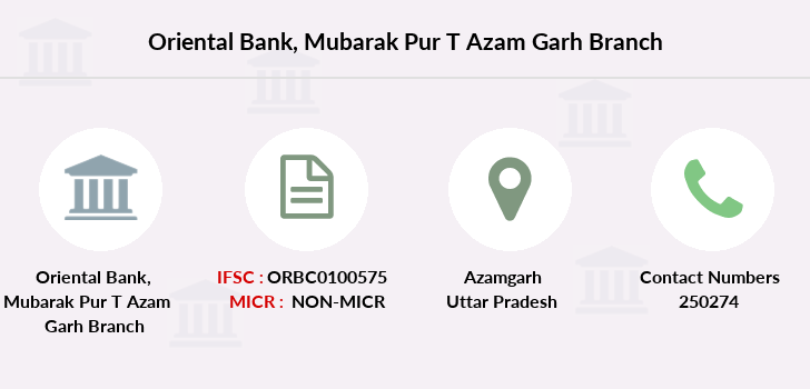 Oriental-bank-of-commerce Mubarak-pur-district-azam-garh branch