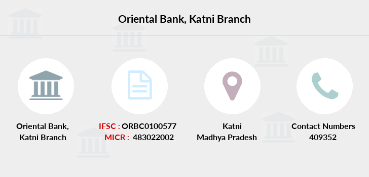Oriental-bank-of-commerce Katni branch