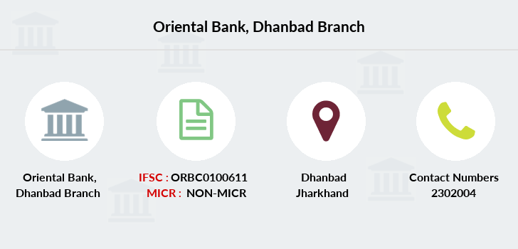 Oriental-bank-of-commerce Dhanbad branch