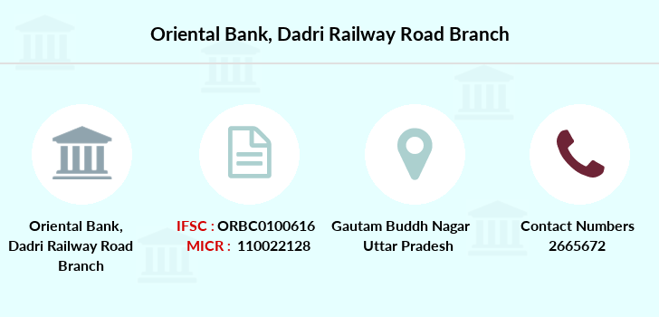 Oriental-bank-of-commerce Dadri-railway-road branch