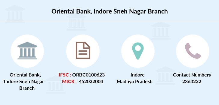 Oriental-bank-of-commerce Indore-sneh-nagar branch