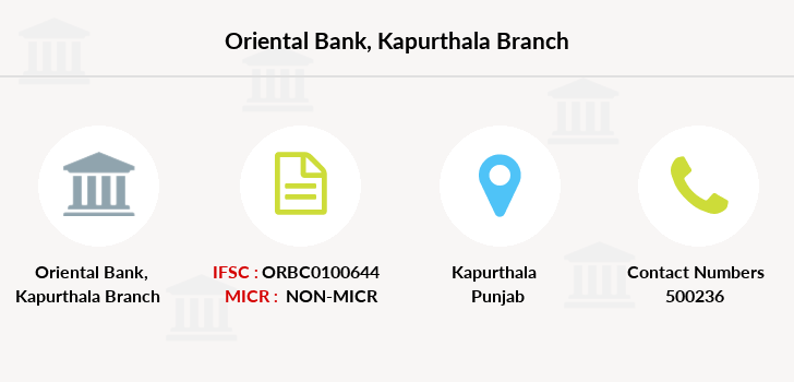 Oriental-bank-of-commerce Kapurthala branch
