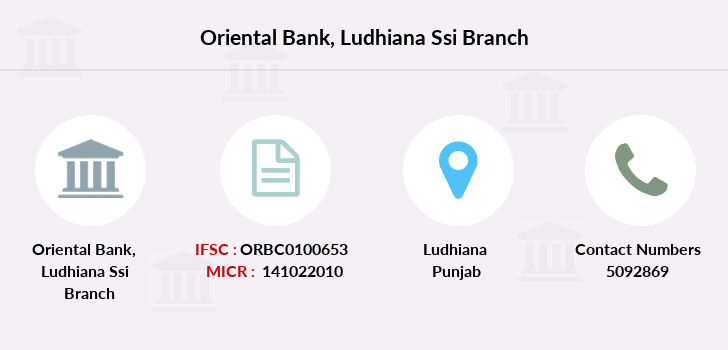 Oriental-bank-of-commerce Ludhiana-ssi branch