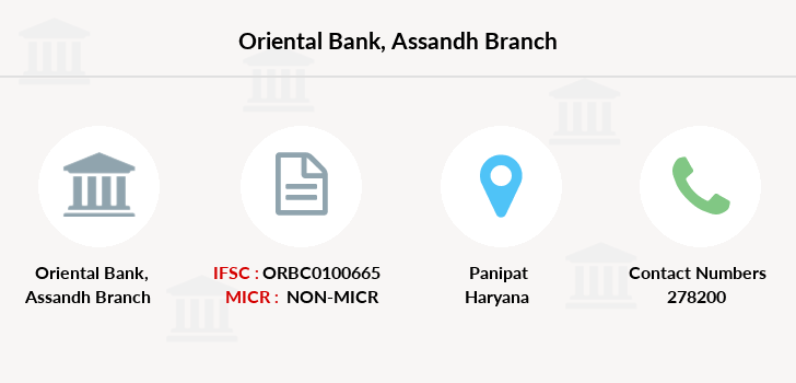Oriental-bank-of-commerce Assandh branch