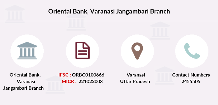 Oriental-bank-of-commerce Varanasi-jangambari branch