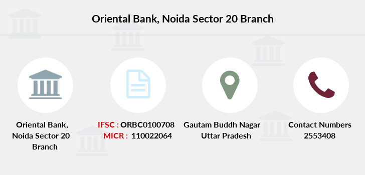 Oriental-bank-of-commerce Noida-sector-20 branch
