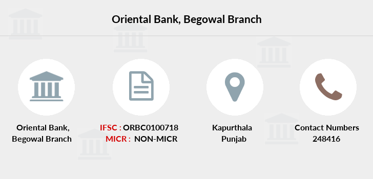 Oriental-bank-of-commerce Begowal branch
